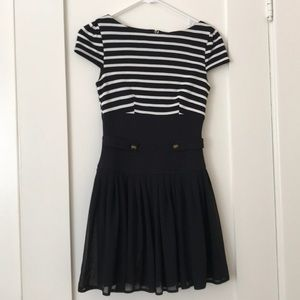 ASOS petite dress navy stripe